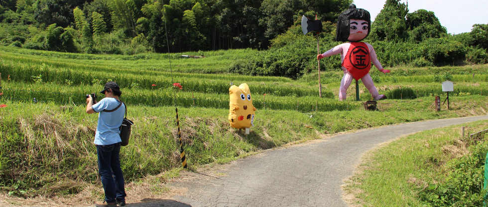Scarecrow in Asuka village/明日香村稻草人