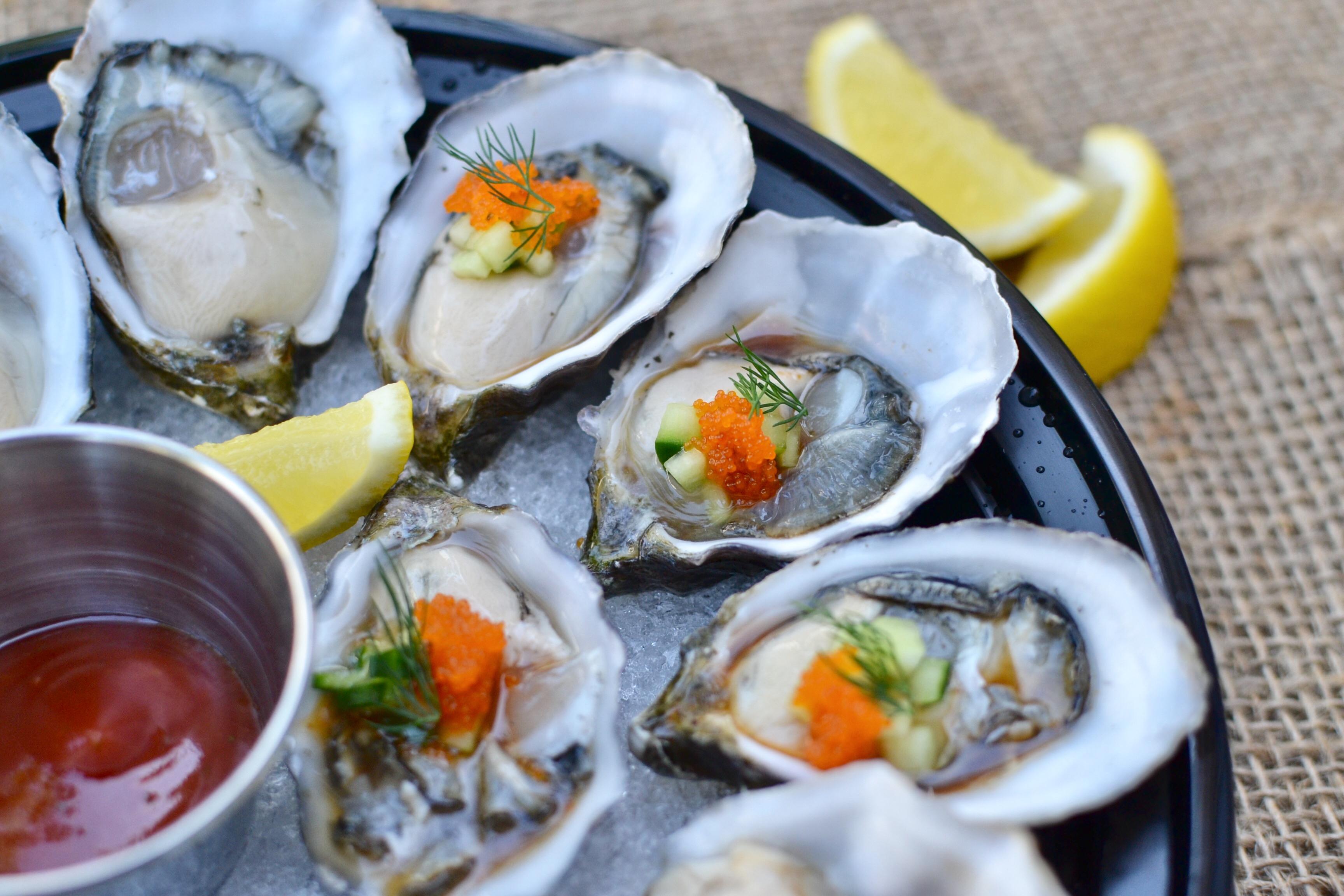 oyster sample platter
