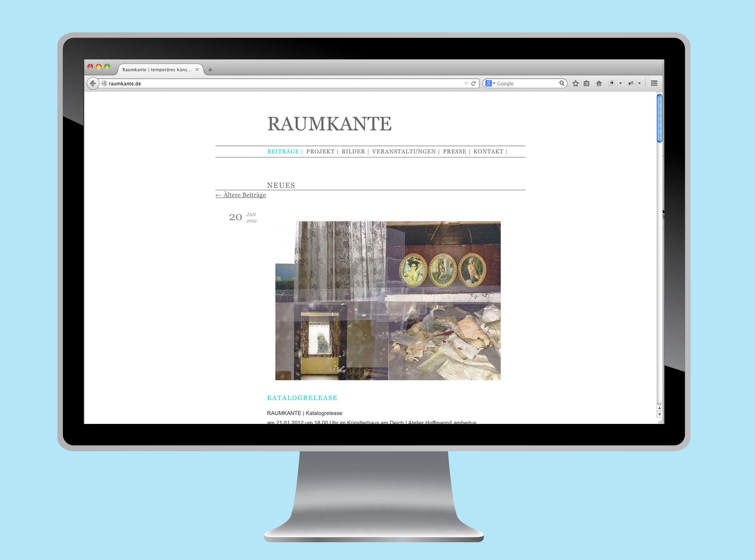 Website Raumkante Blog