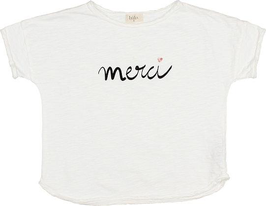 """CAMISETA """"MERCI""""-WHITE"""