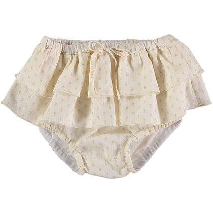 CLEO VOILE FLOWER BABY CULOTTE ( MIMOSA )
