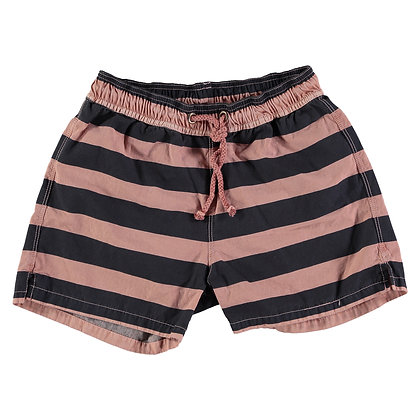 HANSEL NAVY STRIPES SWIMSUIT ( OLD ROSE )