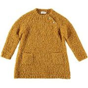 MARIE BOUCLE KNIT DRESS-CURRY