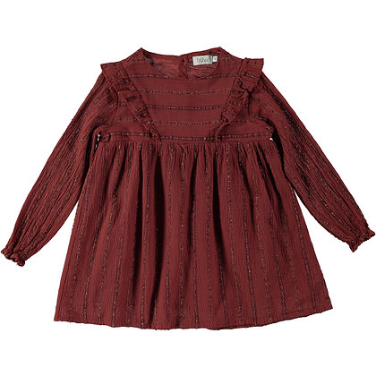 AMBER STRIPES LUREX DRESS ( CINNAMON )