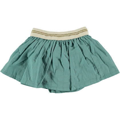 BAMBINA VOILE CHECK CULOTTE-SKIRT ( MINT )