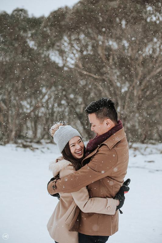 australia destination winter snow pre wedding photography makeup aivy yong