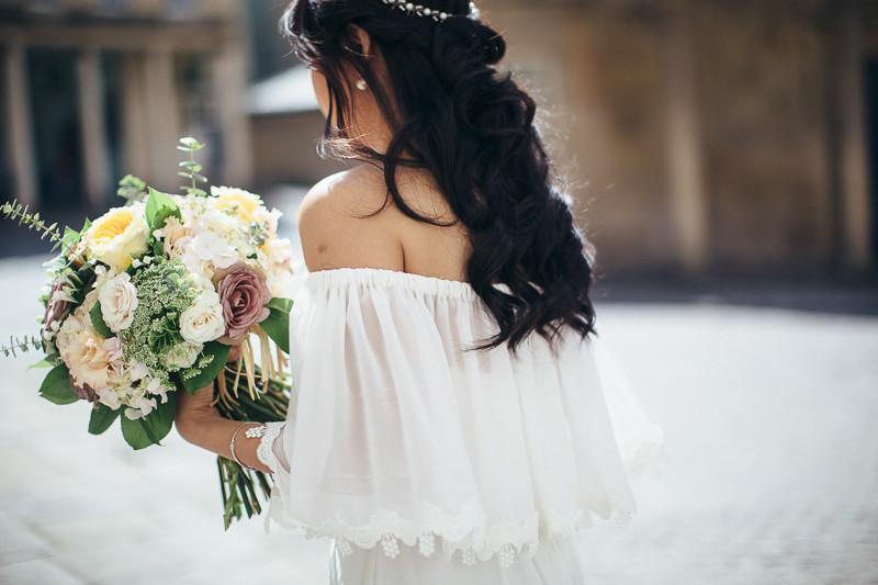 bohemian effortlesss bridal hairdo aivy yong makeup
