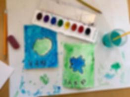 Watercolor landforms #Montessorigeograph