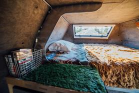 Loft features a full size mattress
