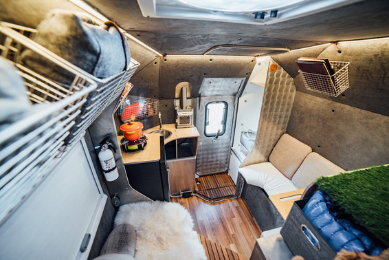 Suprisingly roomy for a 6 foot camper!