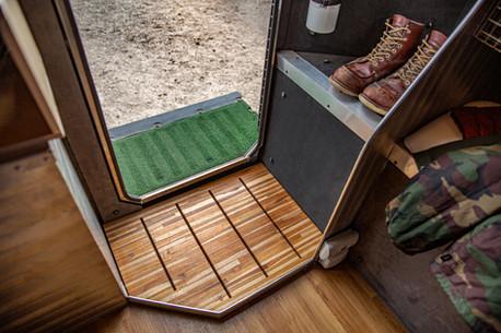 Kimbo mud room with drainage all weather 4 season camping