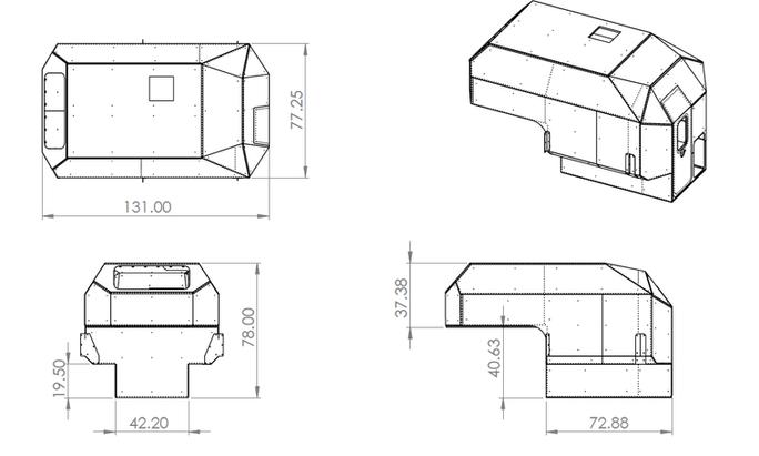 Kimbo 6 foot camper - patent pending
