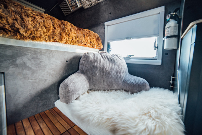 Cozy spot by screened window that opens & has privacy shade