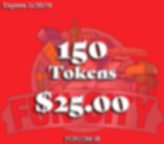 Great Deal on tokens to play arcade and ticket game at Fun City to redeem for prizes! Great Family Fun!