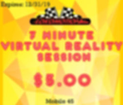 Get a 7 minute VR Session for $5!