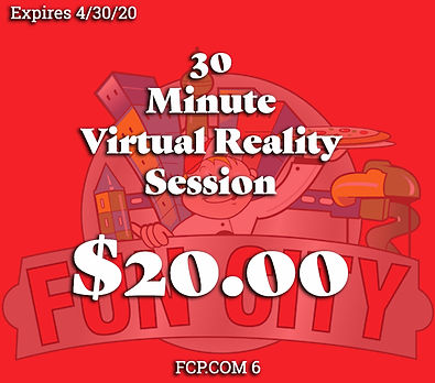 A special coupon that lets you play the all new Virtual Reality at a cheaper price!