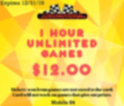 Coupon for a 1 Hour Unlimited Games for $12!