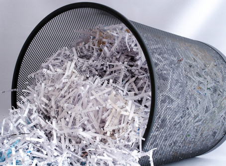 Data That You Should and Should Not Shred