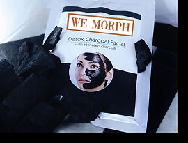 we morph facials - activated charcoal