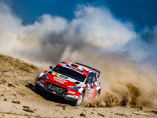 Team MRF Tyres finish strongly in Latvia at the Rally Liepāja