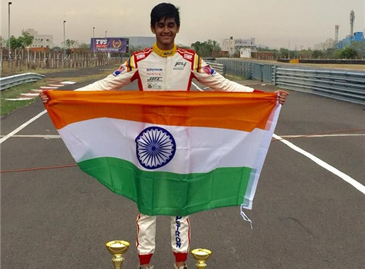 YASH claims his first Int'l Formula4 Podium.