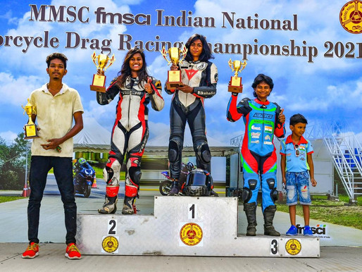 Lani Zena Fernandez wins in stock 165cc class for Girls