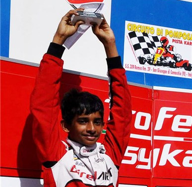 Podium for Ruhaan at Pomposa