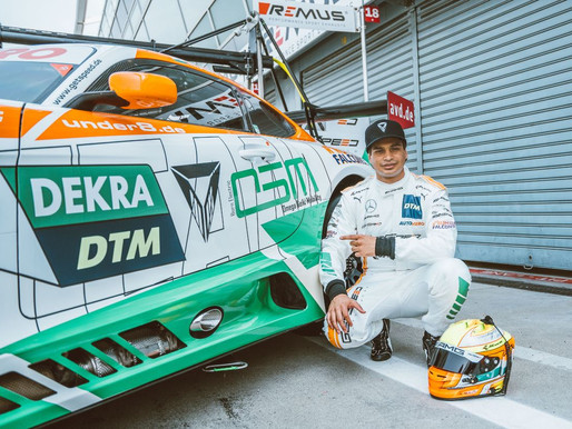 Maini backed by OSM & JK Tyre Motorsport makes the most out of a Steep Learning Curve at DTM