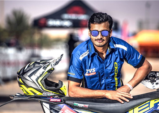 Arvind KP is 4th Sherco TVS rider for Dakar 2019.