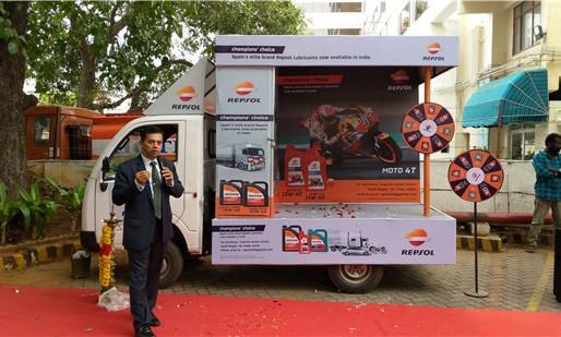 Repsol van campaign in Chennai.
