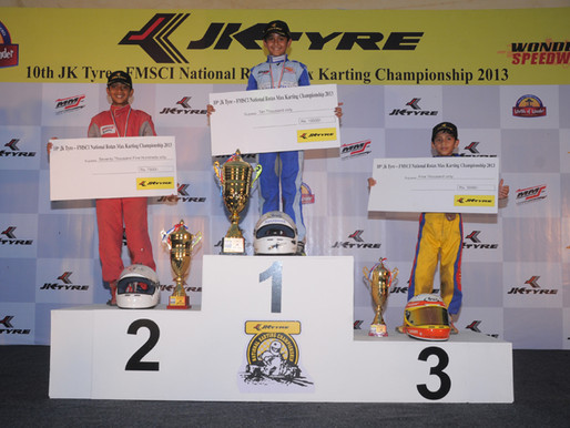 Champions crowned in the 10th JK Tyre-NRM karting Championship.