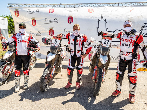 HERO MOTOSPORTS TEAM RALLY COMPLETE THE ANDALUCIA RALLY WITH TWO RIDERS IN TOP 5