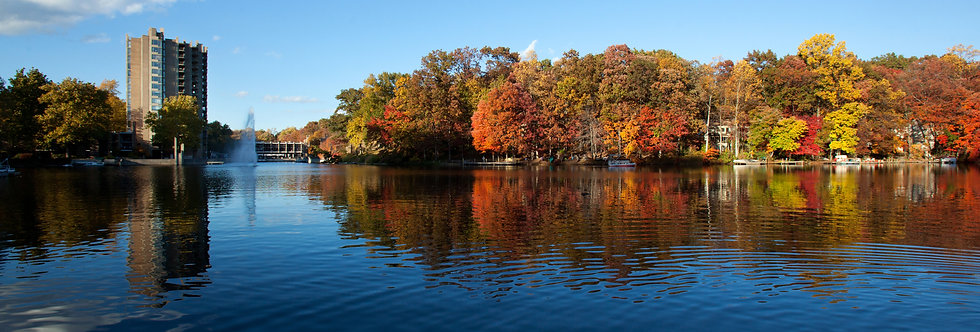 Lake Anne in the Fall Print by Charlotte Geary