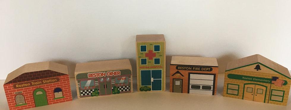 Reston Wooden Town Blocks