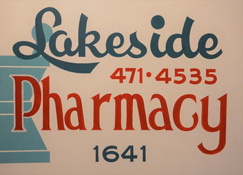 Lakeside Pharmacy Sign