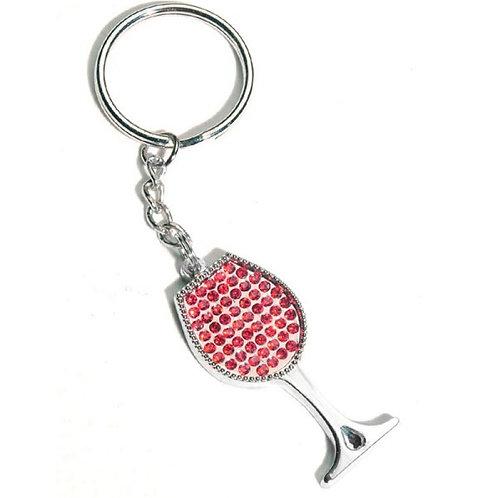 Wine Glass Key Chain