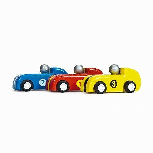 Le Toy Van 3 Pull Back Racers