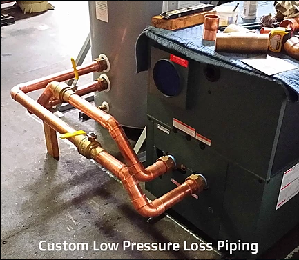 Custom Low Pressure Loss Piping