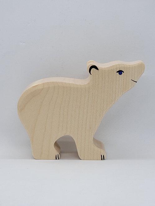 Holztiger 80209 - Polar bear, small, head raised