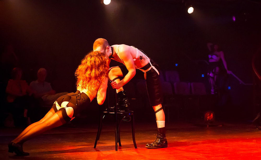 Ashley Ford as Fraulein Kost in Cabaret
