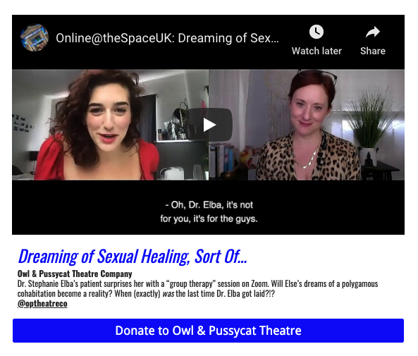Ashley Ford and Christine Lane in Dreaming of Sexual Healing, Sort Of...