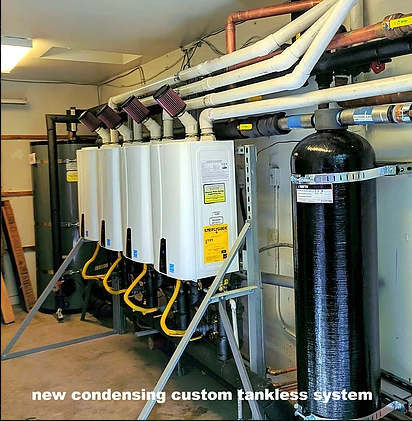 New Custom Condensing Tankless System