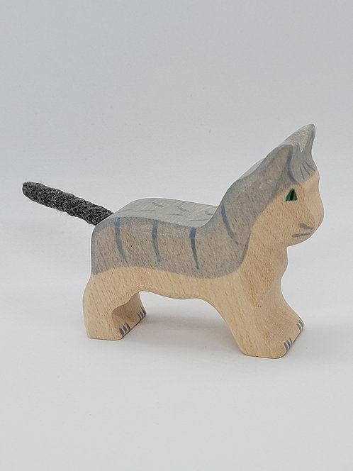 Holztiger 80056 - Cat, small, grey