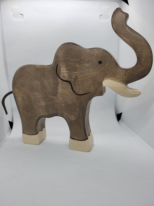 Holztiger 80148 - Elephant, trunk raised