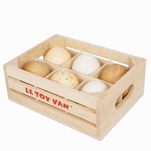 Le Toy Van Farm Eggs Half Dozen
