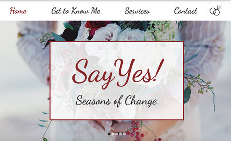 Say Yes! Seasons of Change A starter site for a newly based, SoCal Wedding Of...