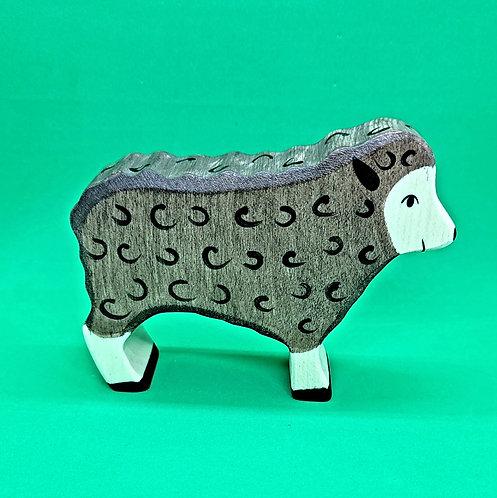 Holztiger 80075 - Sheep, standing, black