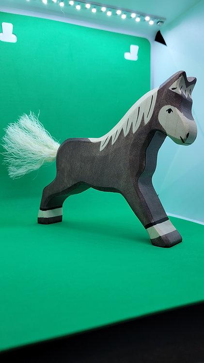 Holztiger 80034 - Horse, Running, Dark Brown