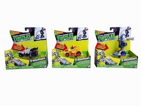 Teenage Mutant Ninja Turtles TMNT T-Machines One-Touch Mutation Figures, 3 Pack