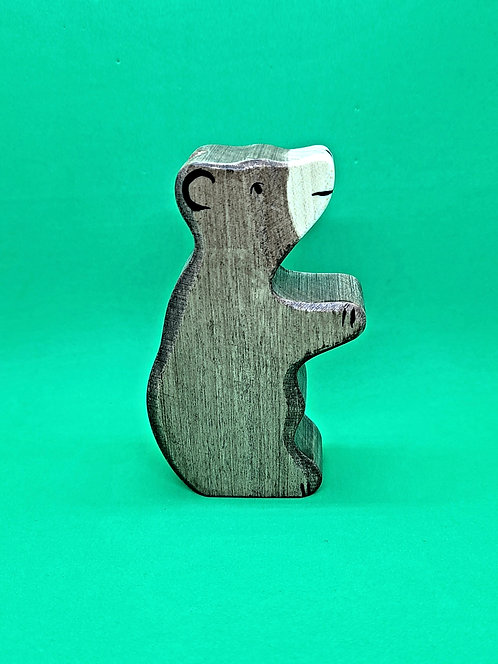 Holztiger 80186 - Brown bear, small, sitting